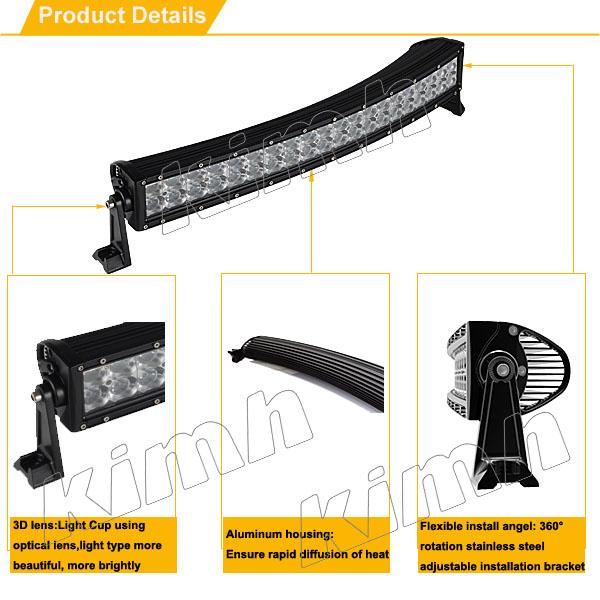 curved 120w led light bar